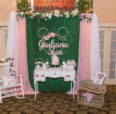Gorgeous Minnie Mouse Baby Shower