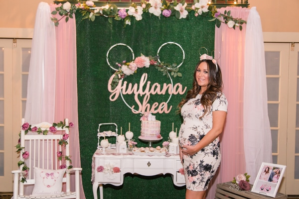 Minnie Mouse Garden Themed Baby Shower