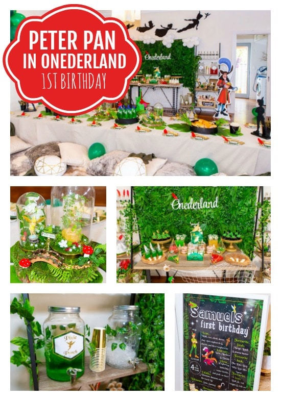 Peter Pan in Neverland First Birthday Party - Pretty My Party
