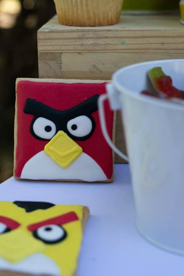 Angry Birds Birthday Party Cookies