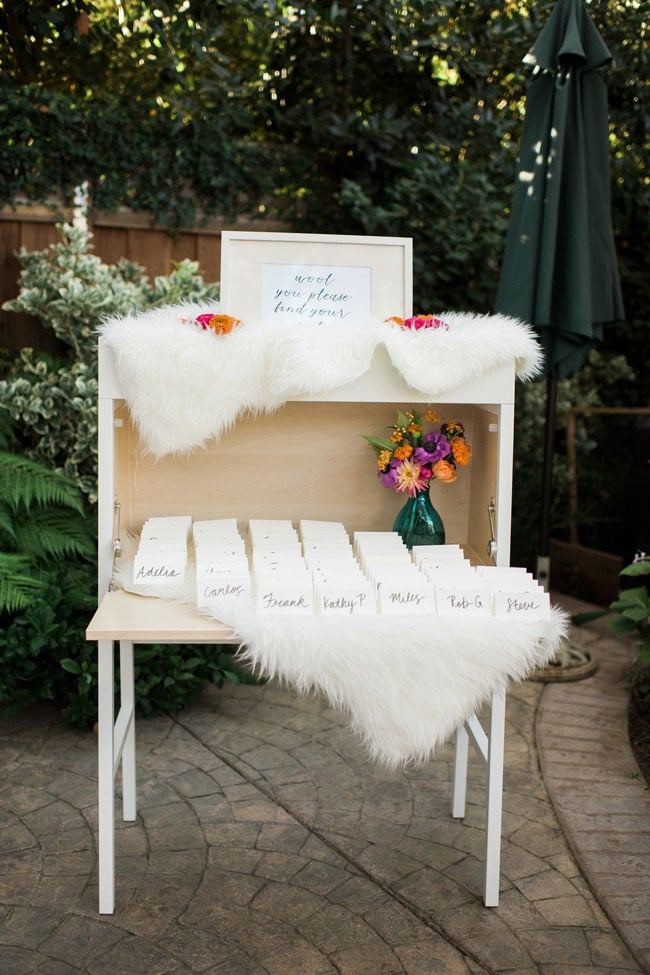 Garden 90th Birthday Party Seating Chart