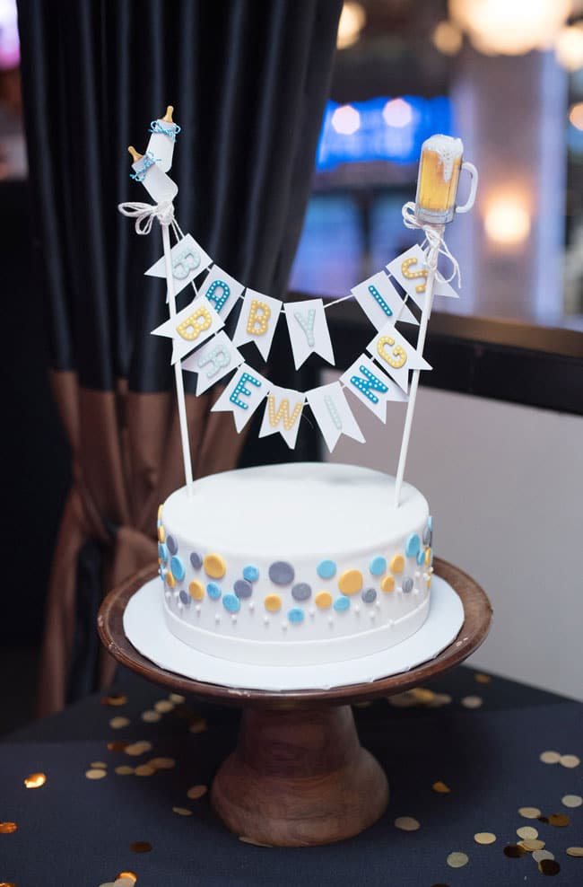 A Baby Is Brewing Baby Shower Cake