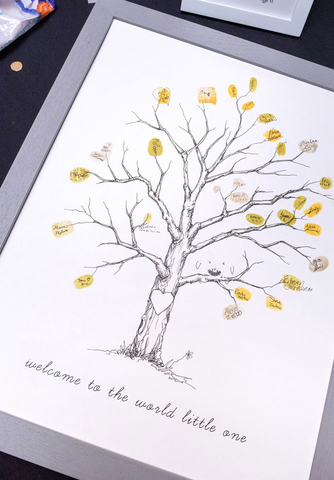Baby Shower Thumbprint Tree Guest Book