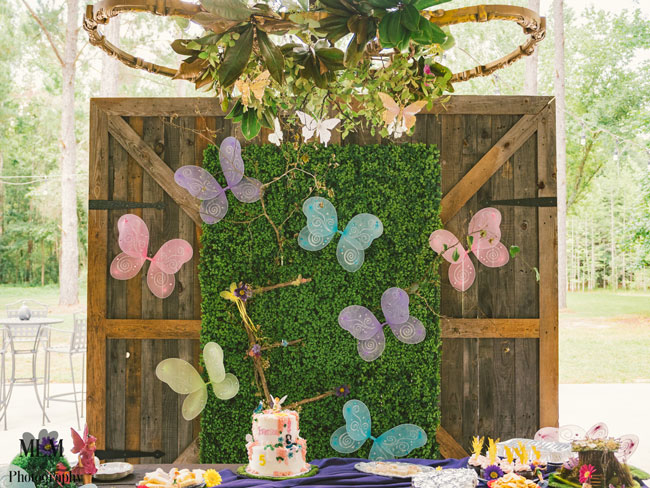 Fairy Birthday Party Backdrop