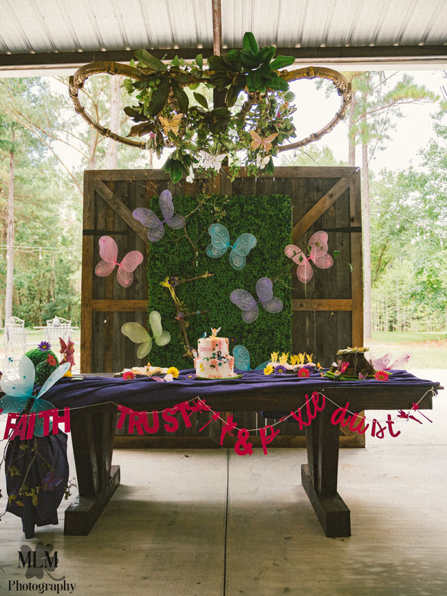 Fairy Birthday Party Dessert Table