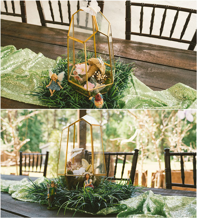 Fairy Birthday Party Table Centerpieces