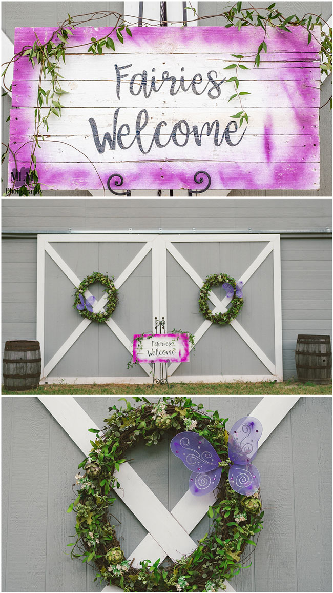 Fairy Birthday Party Welcome Sign