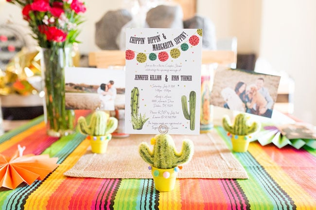 Fiesta Bridal Shower Table Decorations
