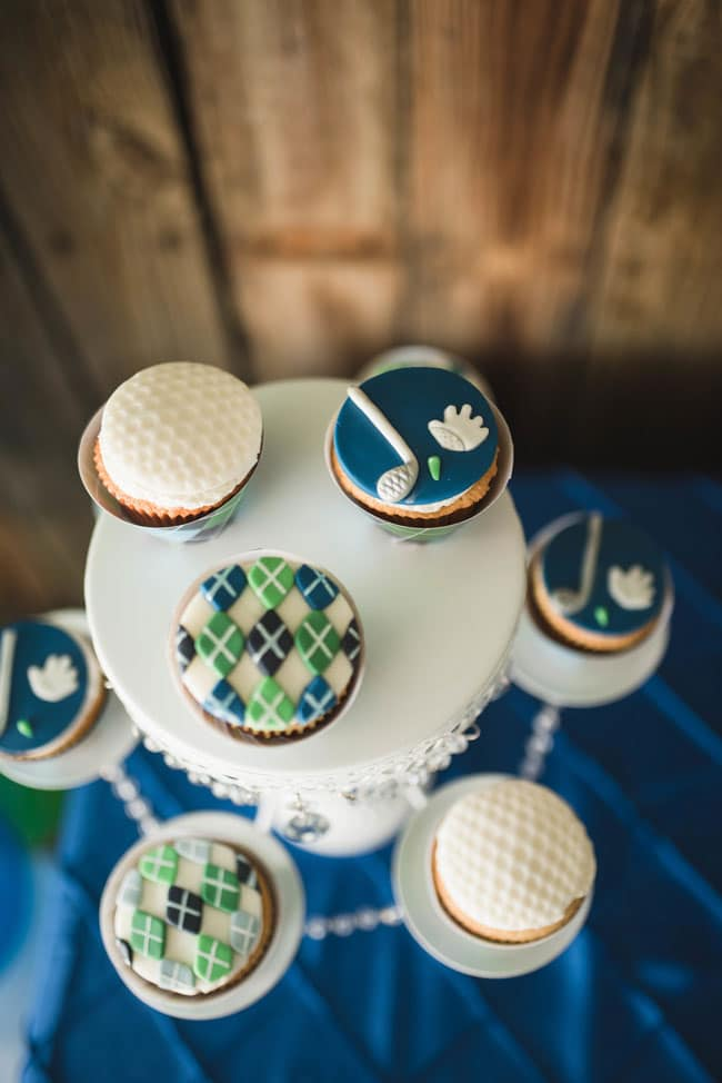 Golf Themed 1st Birthday Party Cupcakes