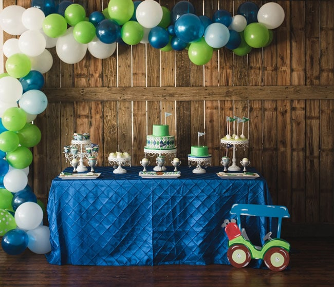 Golf Themed 1st Birthday Party Dessert Table