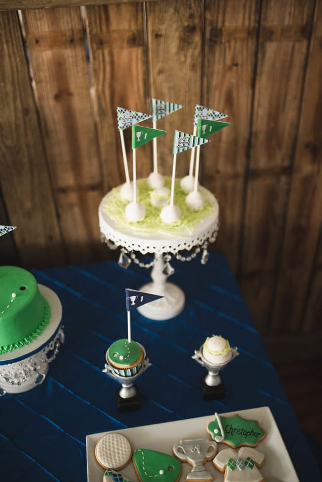 Golf Themed 1st Birthday Party Cake Pops