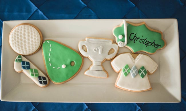 Golf Themed 1st Birthday Party Cookies