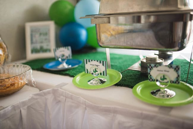 Golf Themed 1st Birthday Party Food Labels