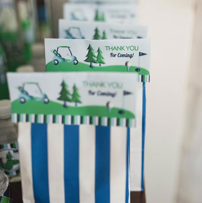 Golf Themed 1st Birthday Party Favors