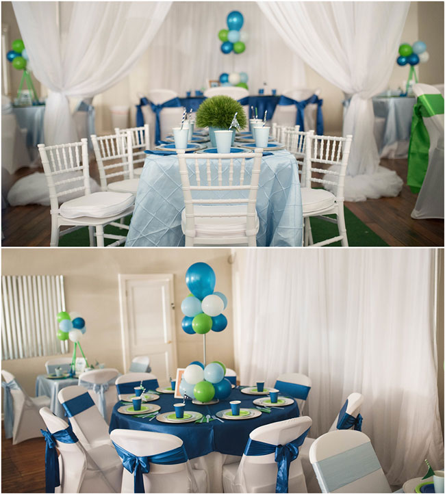 Golf Themed 1st Birthday Party Table