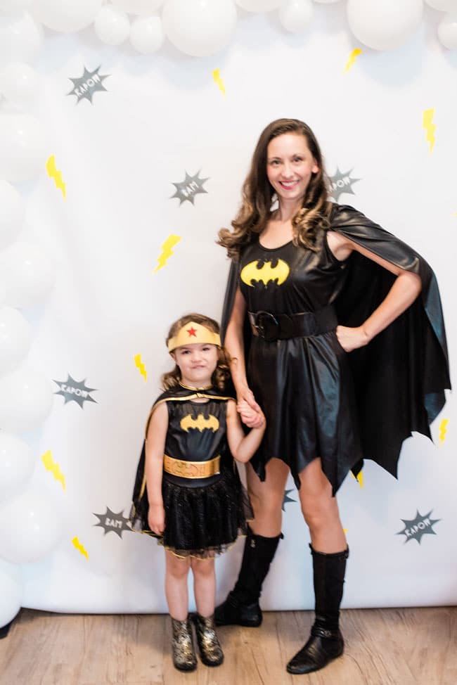 Modern Girls Superhero Party Photo Booth