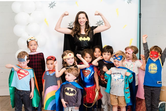 Modern Girls Superhero Party Ideas