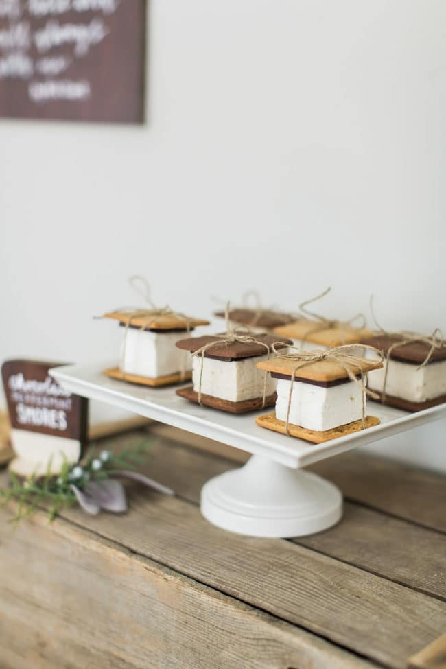 National Park Baby Shower Smores Treats