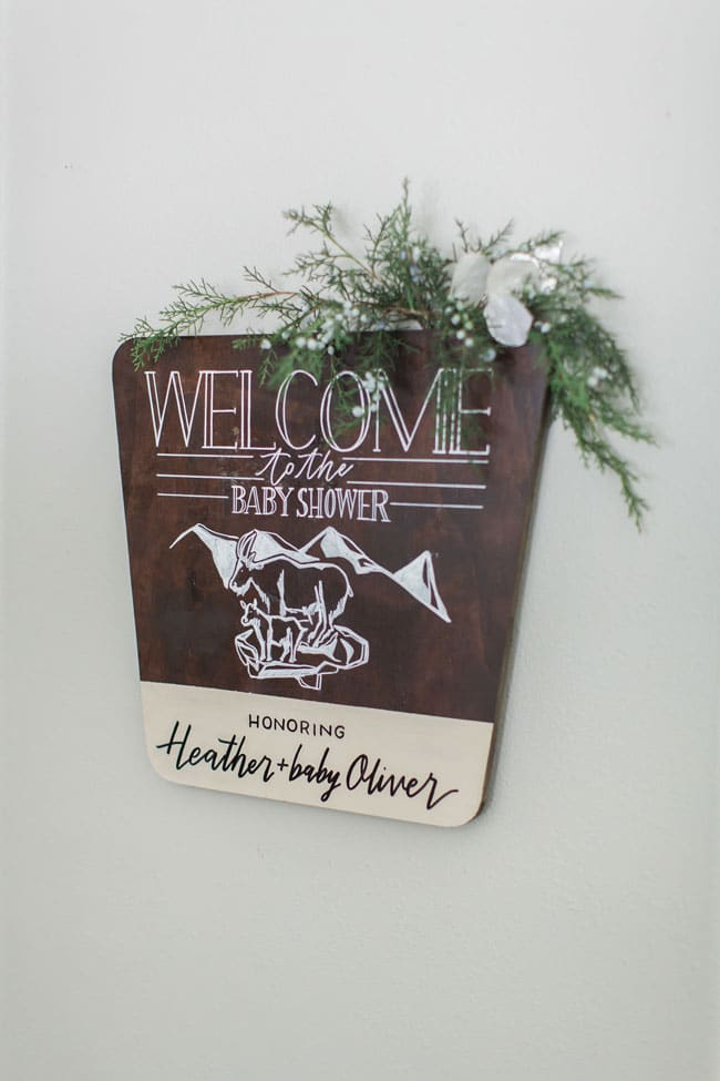 National Park Baby Shower Welcome Sign
