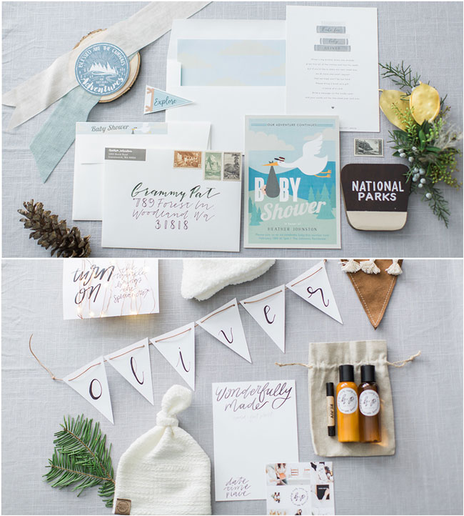 National Park Themed Baby Shower Invitation
