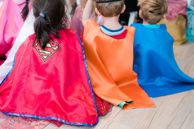 Modern Girls Superhero Party Superhero Capes