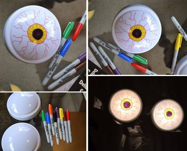 DIY Dollar Store Glowing Eyes