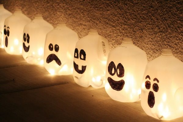 DIY Lighted Spirit Jugs