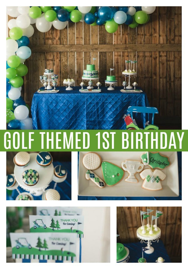 Golf Themed 1st Birthday Party on Pretty My Party