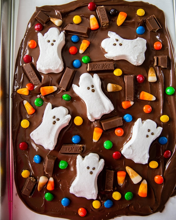 Halloween Chocolate Candy Bark