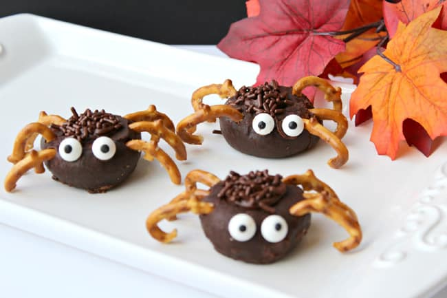 Easy Mini Chocolate Donut Spiders