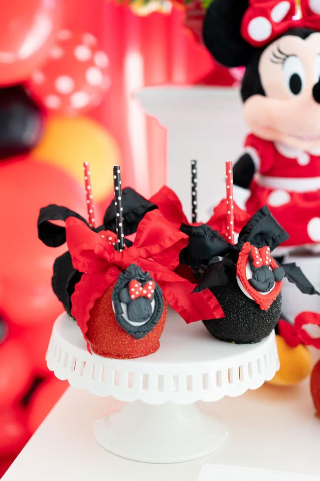 Minnie Mouse Candy Apples