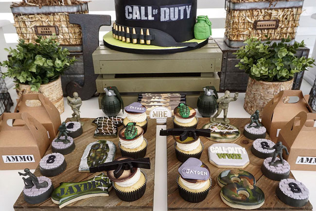 Call of Duty Birthday Party Dessert Table