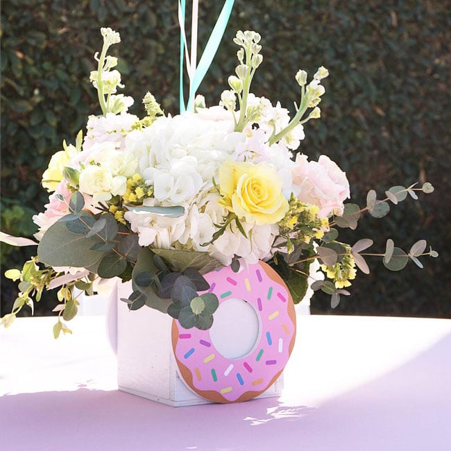 Donut Birthday Party Table Centerpiece