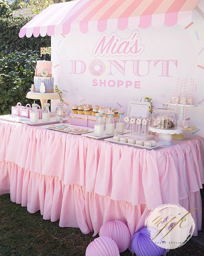 Donut Party Dessert Table on Pretty My Party