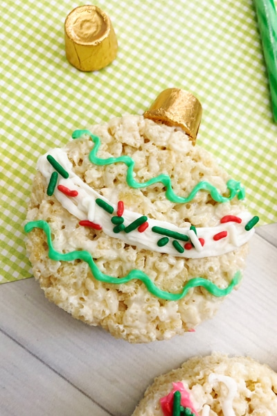 Rice Krispie Treat Christmas Ornaments