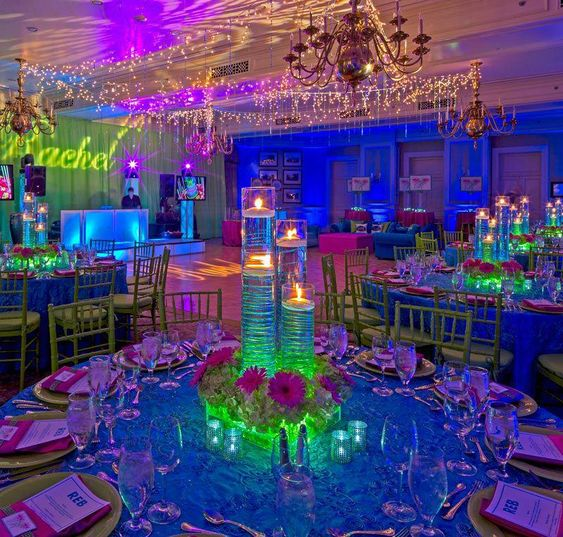Glow in the Dark Theme - Sweet 16 Party Ideas