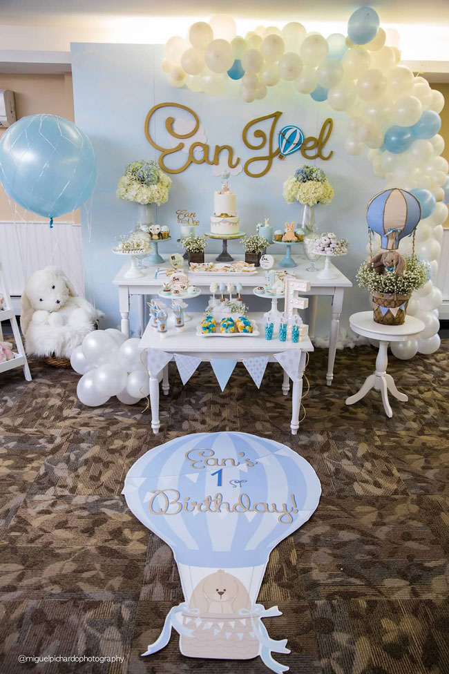 Hot Air Balloon Baby Boy Baby Shower Theme