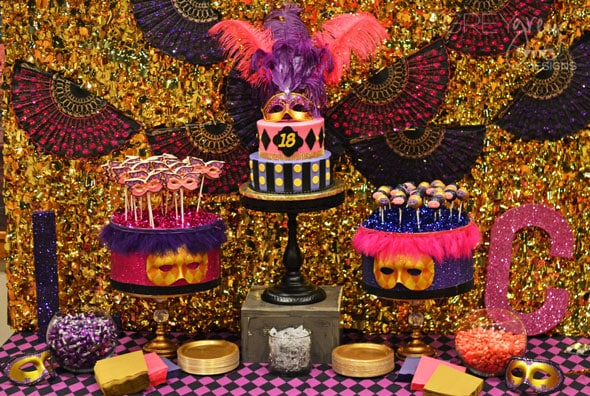 Masquerade Sweet 16 Party Theme