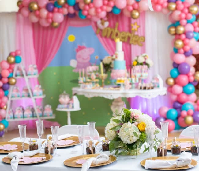 Colorful Peppa Pig Birthday Pretty My Party Party Ideas