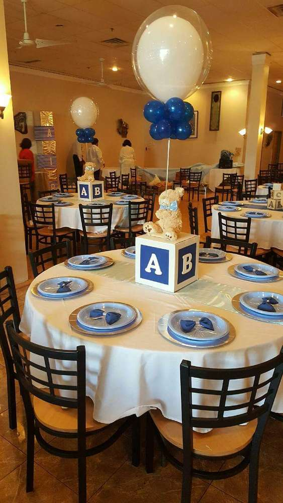 Bears, Blocks and Bow Ties Boy Baby Shower Theme