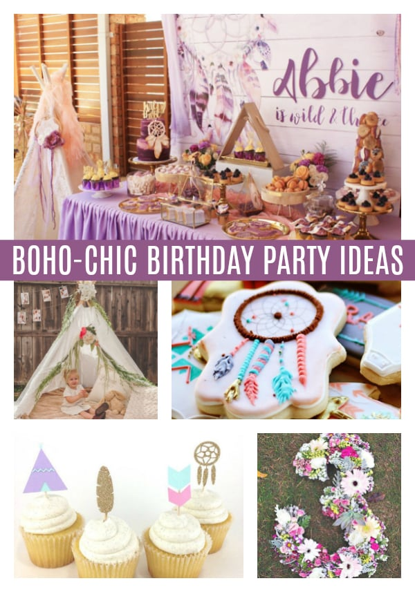 Boho Chic Party Ideas on Pretty My Party