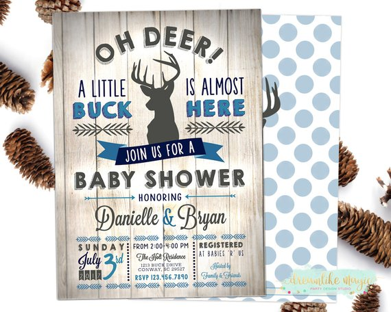 Oh Deer Little Buck Baby Shower Theme For Boys