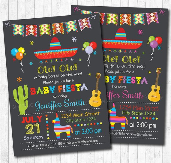 Fiesta Baby Boy Baby Shower Theme