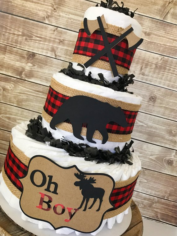 Lumberjack Baby Boy Baby Shower Theme