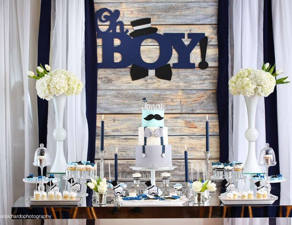 Oh Boy Little Man Baby Shower Theme