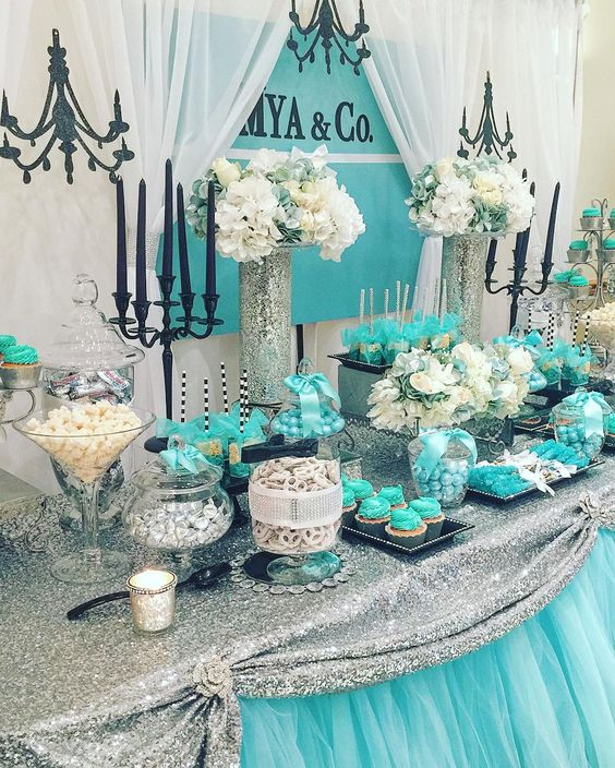 Tiffany and Co. Sweet 16 Party Theme