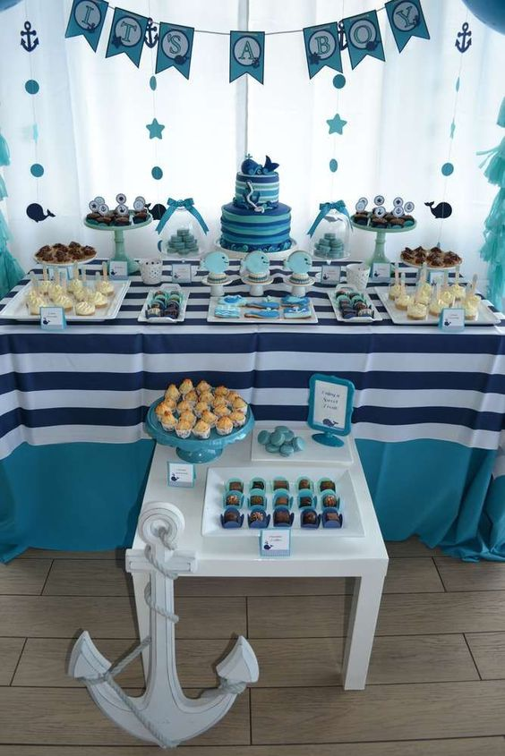 Whale Baby Shower Baby Boy Theme
