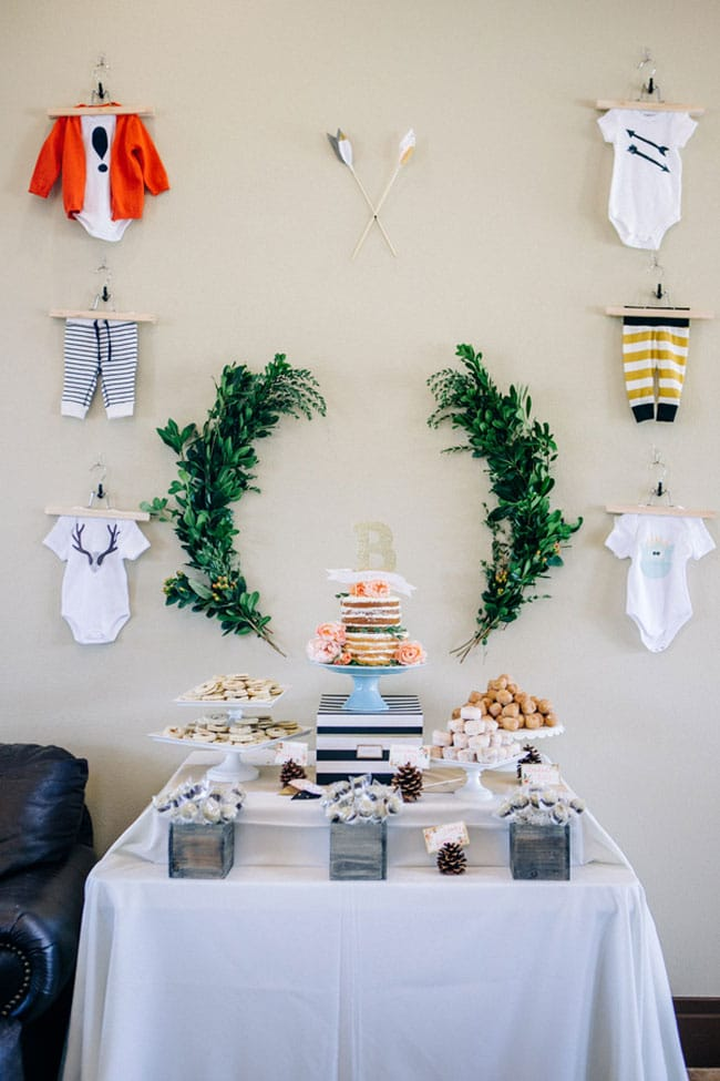 Woodland Baby Boy Baby Shower Theme on Pretty My Party