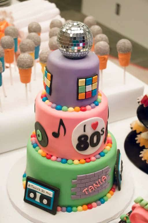 80s Birthday Cake - Awesome Birthday Cakes For Girls on Pretty My Party