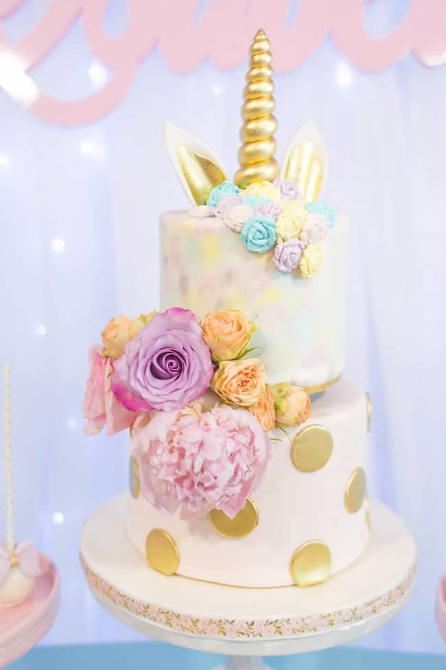 Unicorn Birthday Cake - Awesome Birthday Cakes For Girls on Pretty My Party